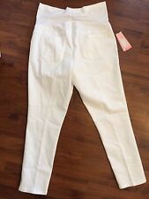 NWT Liz Lange Maternity Size XL 16 White Ankle Length Skinny Jeans