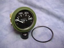 MILITARY VEHICLE TEMPERATURE GAUGE 120-240 *NEW* M35 M35A2 M813 M818