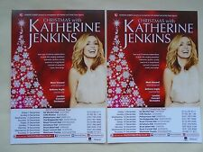 KATHERINE JENKINS Live in Concert 2017 UK Christmas Tour Promotional flyers x 2