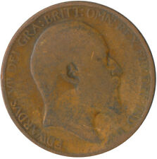 1909 HALF PENNY OF EDWARD VII. / COLLECTIBLE COIN    #WT5363