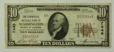 Series of 1929 $10 National Banknote Washington DC Charter # 7446 Very Fine WW
