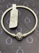"NEW Authentic Pandora Pattern of Love Bangle Bracelet 6.7"" - Sterling 597137-17"