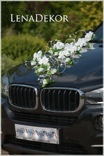 wedding car decoration KORA  ribbon bows prom limo  mariage matrimonio