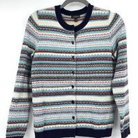 Talbots Womens Cardigan XXS multicolor Lambswool Blend Business Office Career