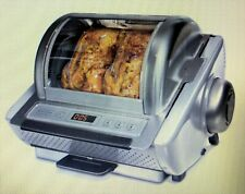 NEW - RARE STAINLESS STEEL - Cook's Companion Simple Store 1250W Rotisserie Oven