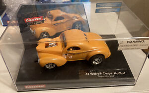 Carrera 41 Willys coupe hot rod  Supercharged Orange #27224 Nice 👀