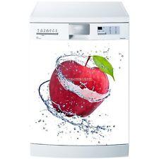 Magnet lave vaisselle Pomme rouge 60x60cm réf 618 618