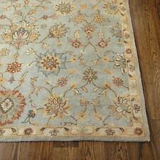 Old Parsian Traditional Blue Handmade 100% Wool Area Rugs & Carpet