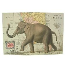 """Posters India Map with Elephant Art Prints Poster Pictures Wall Art 20"""" x 28"""""""