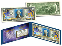 AQUARIUS * Horoscope Zodiac * Genuine Legal Tender Colorized U.S. $2 Bill