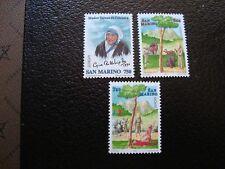 SAINT-MARIN - timbre yvert/tellier n° 1438 1497 1498 n** MNH (COL3)