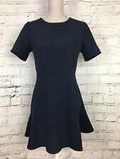Womens FOREVER 21 Navy Short Sleeve Flared Bottom Smart Dress Size M