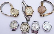 7 Vintage ladies wristwatches FOR PARTS Lanco,Roamer,Services,Fortis,Timex,Arnex