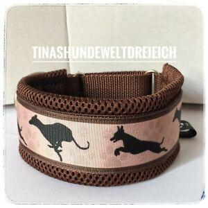 Windhund Halsband Galgo..6cm breit..wird nach Maß gefertigt..Zug Stopp Neu 👀👀