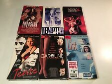 Erotic Thriller VHS Lot of 6 Tease The List Tempted Body Chemistry 2 +