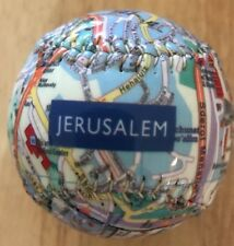 MAP OF JERUSALEM BASEBALL ⚾️ BALL VERY RARE ONLY ONE ON EBAY