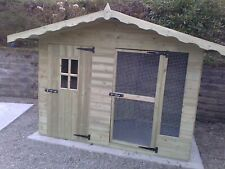 DOG/CAT KENNEL AND RUN CHALET STYLE