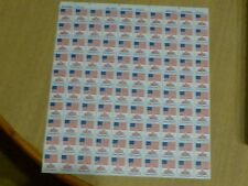 United States Scott #1622 the 13 cent Flag over Independence Hall sheet of 100