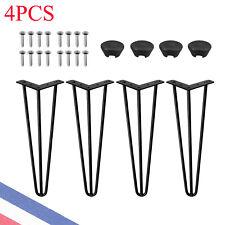 """4PCS Pieds de table en épingle à cheveux vis libres+ pied protection -41cm / 16"""""""