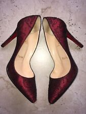SOLD OUT Christian Louboutin 100mm Satin Lace Pigalle Heels Pumps 37/6.5 $1395