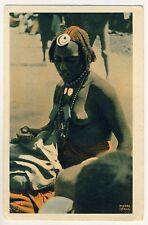 Tchad WOMAN Baguirmienne FRAU Tschad * Vintage 10s Ethnic Nude Advertising PC