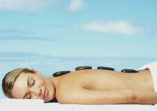 SALON SPA HEALTH BEAUTY HOT STONE MASSAGE A4 260GSM POSTER PRINT