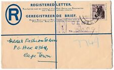 B8324cgt South Africa Zebra vintage Registered Letter cover