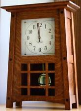 McCoy Mantle Clock Amish Made Solid Quarter Sawn Oak Wood Quartz Dual Chime!