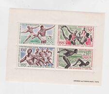 centra africa 1964 Sc C23a s/s tokyo Mnh a2030