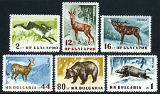 Bulgarie 1004-1009,MNH Animaux: Lièvre,Rouge Cerf,Chamois,Ours Brun
