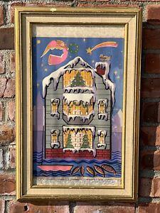 C1960 Massachusetts Folk Art Artist Peter Hunt Signed Painting
