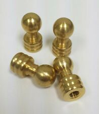 "(4) solid brass finial ball knob. 1/2"" x 1 1/8""   1/4 - 27 threads"