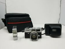 Vintage Canon Canonet QL17 GIII Camera With Camera Case, Carrying Case And Flash