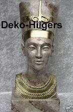 Ägyptische Büste Nofretete Kopf Figur Frau Stuckgips Deko Marmoriert 2846 Fa124