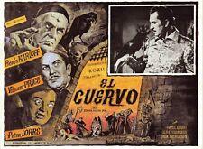 """""""LE CORBEAU (THE RAVEN)"""" Affiche mexicaine entoilée Boris KARLOFF, Vincent PRICE"""