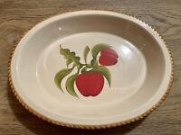 Vintage Stoneware Serving Apple Basket Platter or Bowl 13.5x10.75x2 Alcoa Ind.