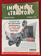 Implement & Tractor September 2, 1950 Vintage Farm Equipent Catalog