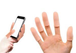 5 PACK Silicone Finger Protectors Prevent Damage Irritation, Pressure, Rubbing