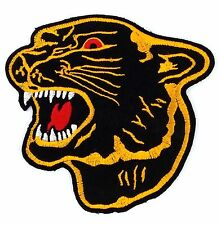 Gold Edges Black Panther Applique Patch Embroidered Iron On Sew Patch DIY