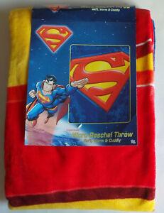 "Superman Micro Raschel Throw Blanket 46"" x 60"""