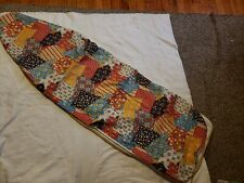 Vintage 1970's hipster patchwork pattern Fabric Ironing Board Cover