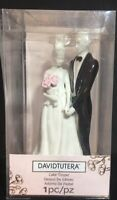 "NEW David Tutera Wedding Cake Topper Bride & Groom Ceramic Porcelain Figurine 7"""