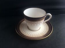 Antique 1909 Royal Doulton Blue & Gold Gilt Miniature Cabinet Cup & Saucer VGC 2