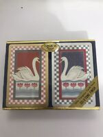 Congress Vintage Playing Cards 2 Decks Case Swan Cel u tone Sealed 210443