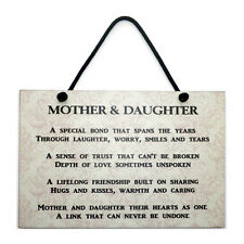 Mothers Day Gift Mother and Daughter Plaque Mum Gift Home Daughter Gift Sign 172