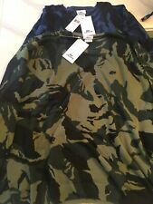 NWT Lot of 2 Mens Green and Blue Camo Sweaters XXL MSRP $500