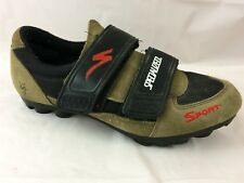 Specialized Bicycling Shoe Mens 7.5 M EU 40 Khaki Green Black Red Straps Sneaker
