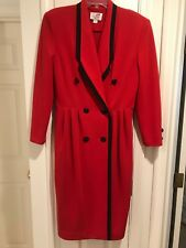 Caron Red Knit Dress Size 12 Holiday Christmas