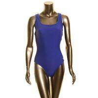 SPEEDO NEW Women's Indigo Blue Solid Ultraback One-Piece Swimwear 8 TEDO