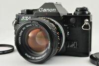 Near MINT CANON AE-1 35mm Black SLR FD 50mm f/1.4 S.S.C. from Japan #4574